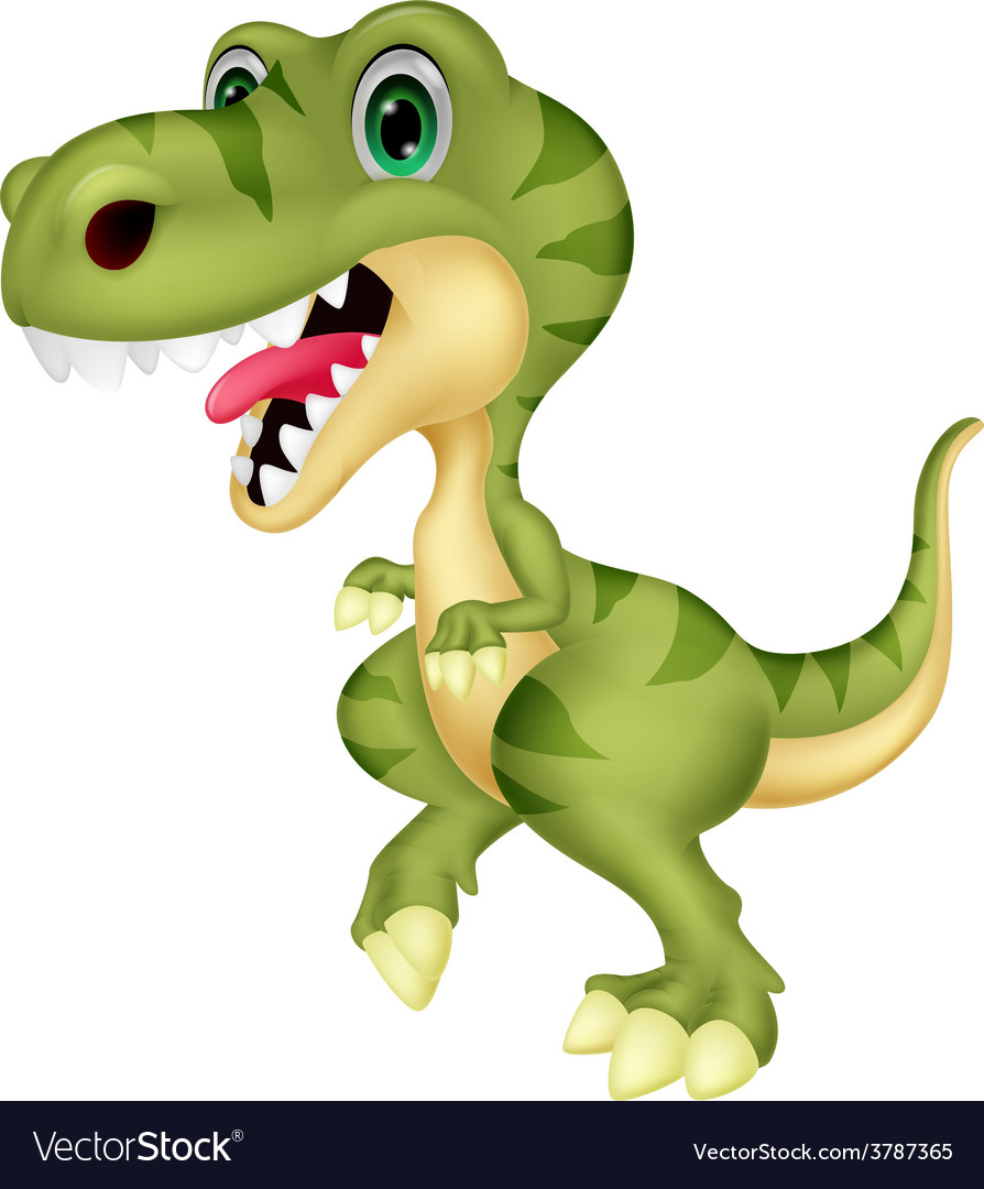 Cute tyrannosaurus cartoon vector | Price: 1 Credit (USD $1)