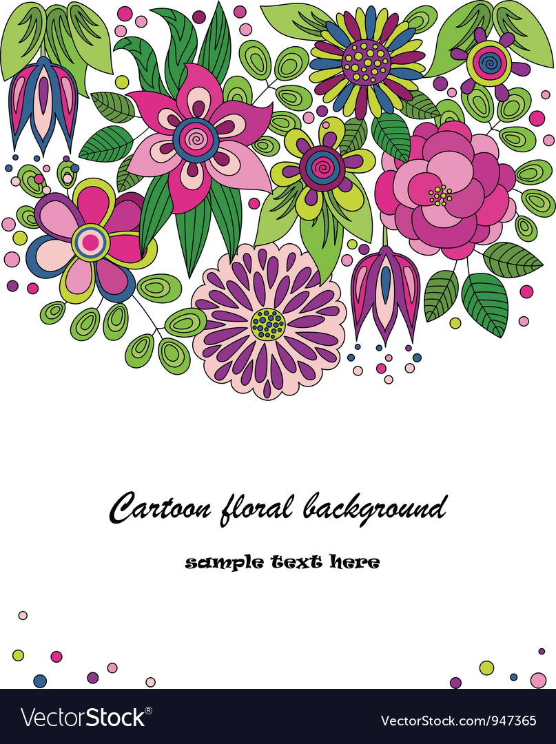 Decorative colorful cartoon flower vector | Price: 1 Credit (USD $1)