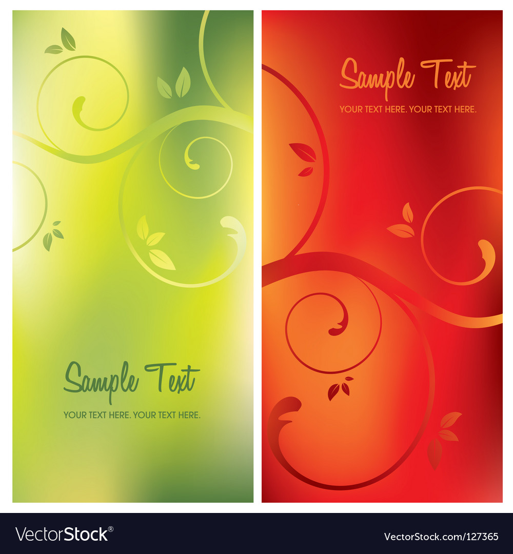 Floral card backgrounds vector | Price: 1 Credit (USD $1)