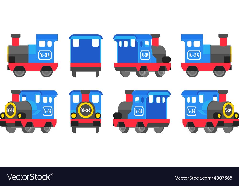 Light blue toy locomotive vector | Price: 1 Credit (USD $1)