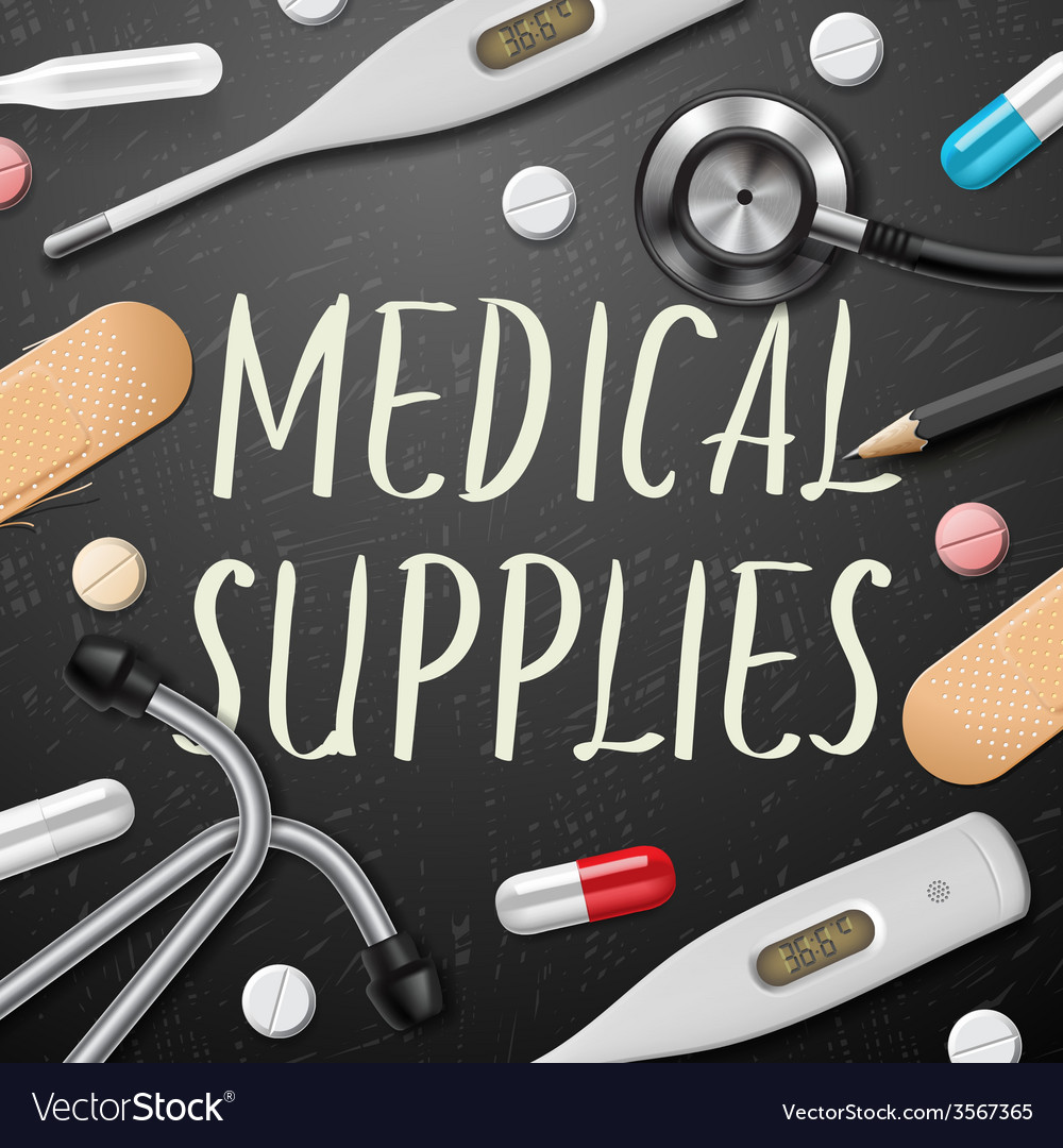 Medical template with medicine equipment vector | Price: 1 Credit (USD $1)