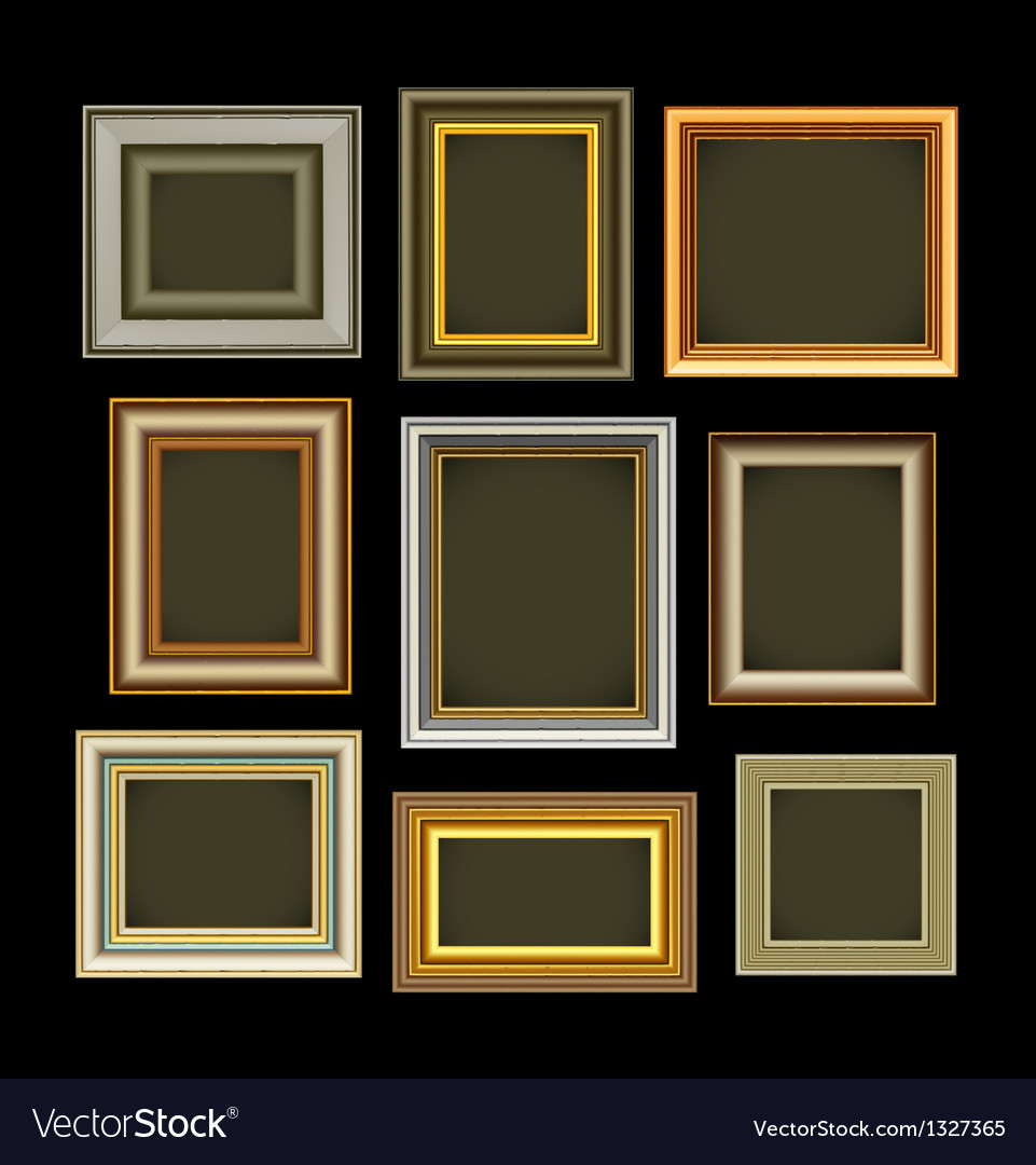 Photo picture frames vintage vector   Price: 1 Credit (USD $1)
