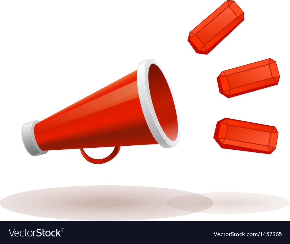 Red megaphone vector | Price: 1 Credit (USD $1)