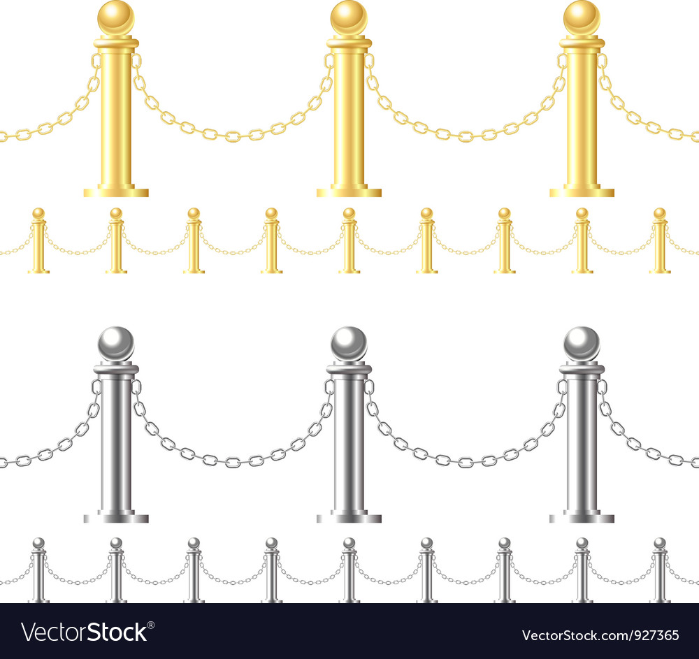 Seamless fence isolated on white vector | Price: 1 Credit (USD $1)