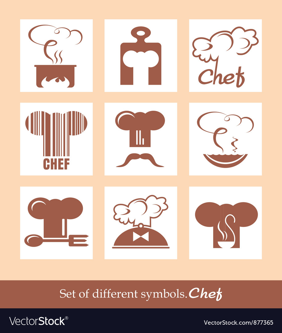 Set of different symbols chef vector | Price: 1 Credit (USD $1)