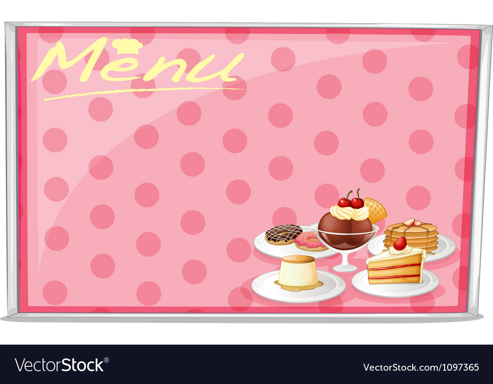 Various cake menu vector | Price: 1 Credit (USD $1)