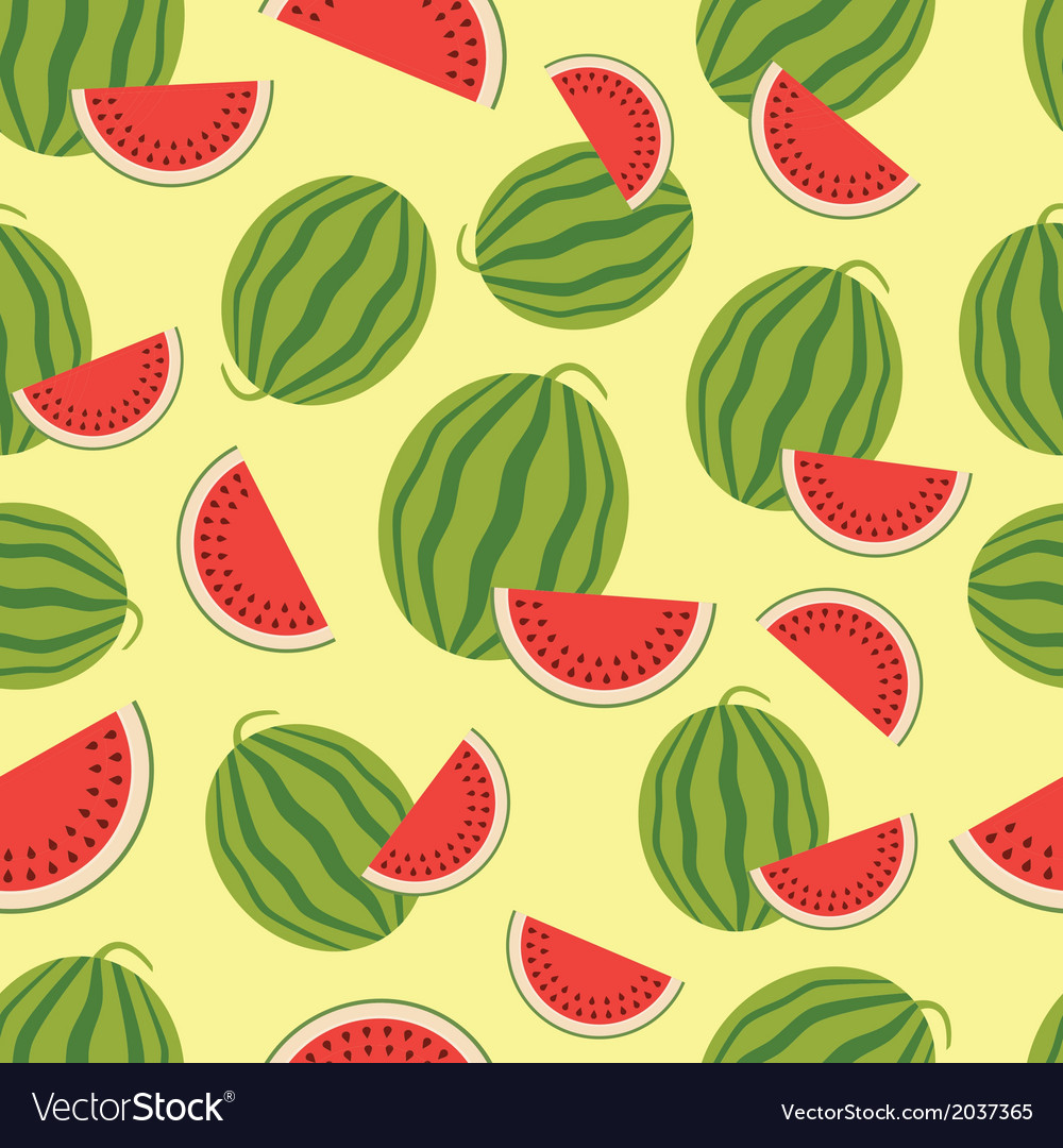 Watermelon seamless background vector   Price: 1 Credit (USD $1)