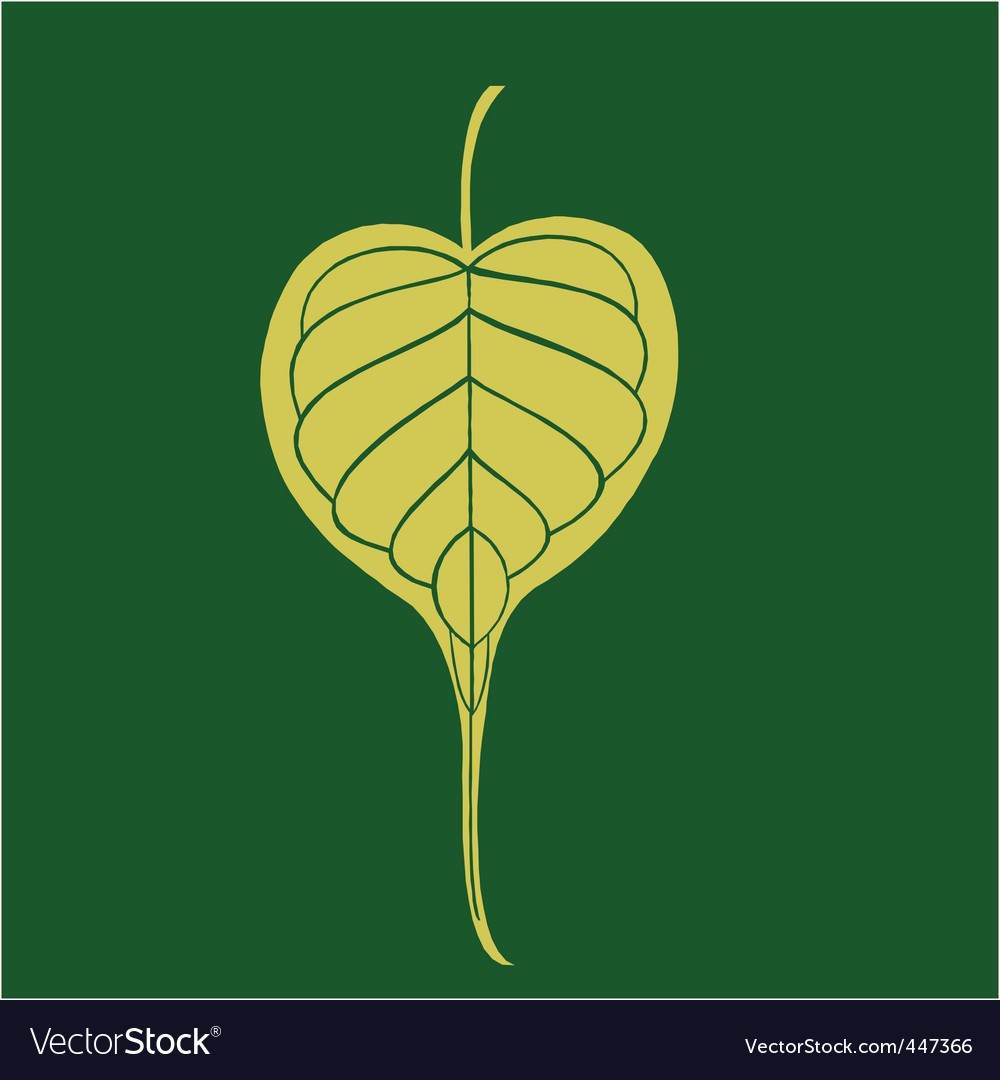 Banyan leave vector | Price: 1 Credit (USD $1)