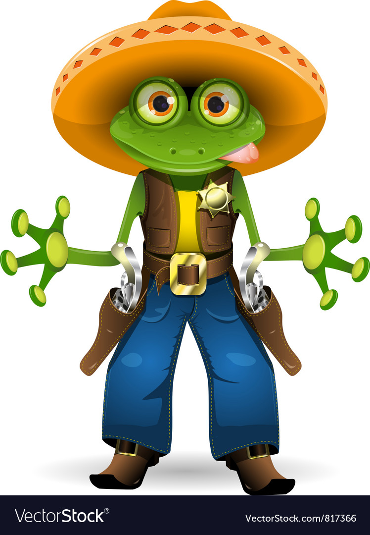 Frog sheriff vector | Price: 3 Credit (USD $3)