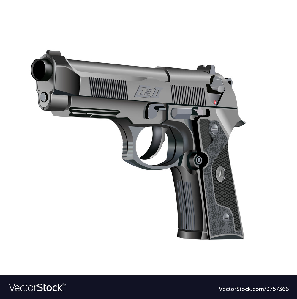 Handgun beretta elite vector | Price: 3 Credit (USD $3)