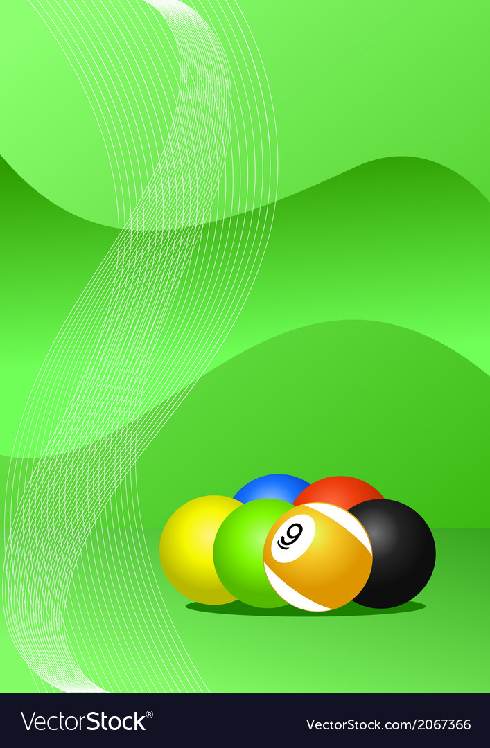 Pool balls background vector | Price: 1 Credit (USD $1)