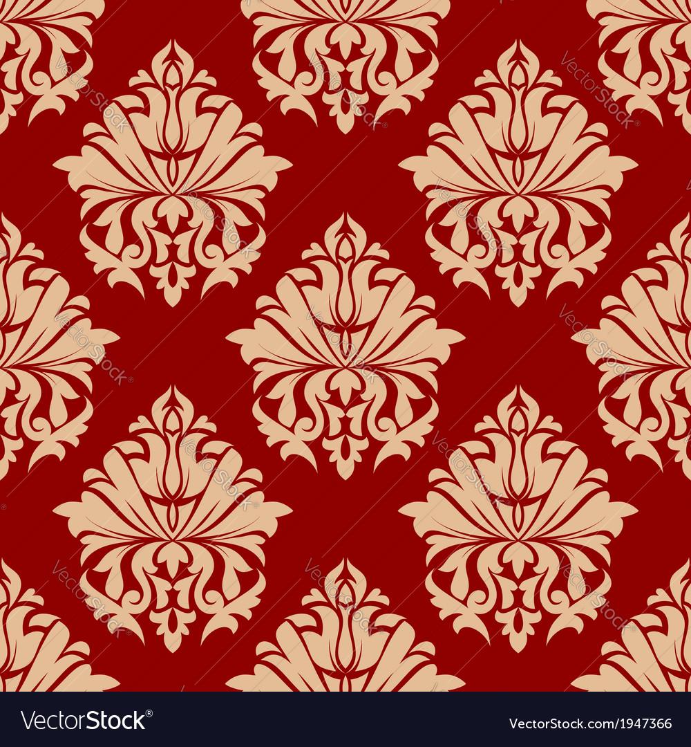Retro damask style arabesque pattern vector   Price: 1 Credit (USD $1)