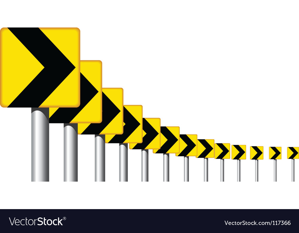 Road sign curve vector | Price: 1 Credit (USD $1)