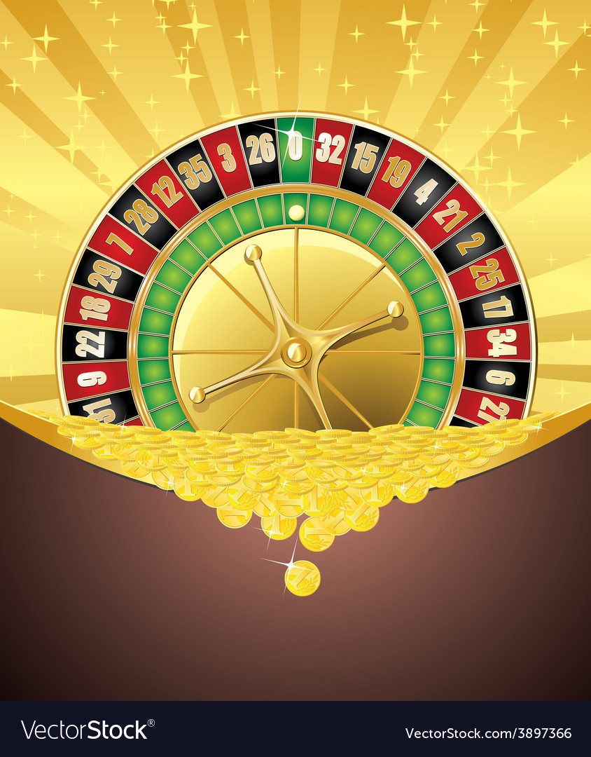 Roulette and golden coins vector | Price: 1 Credit (USD $1)