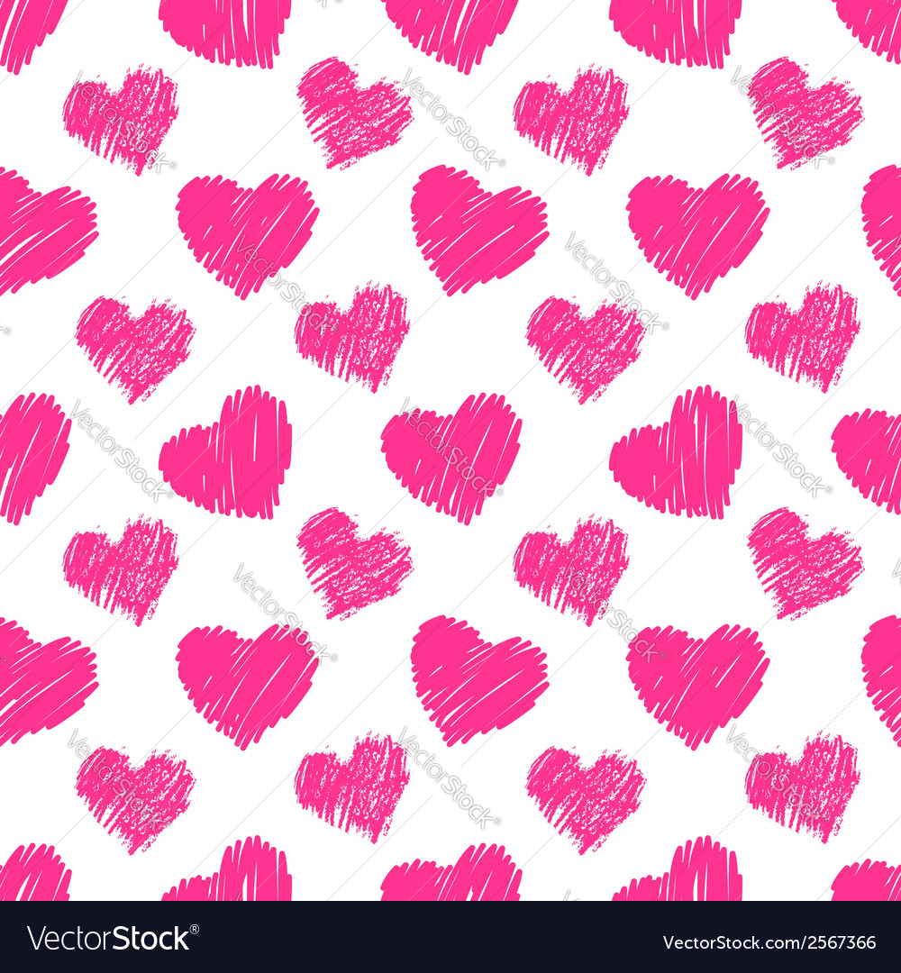 Seamless hearts pattern vector | Price: 1 Credit (USD $1)