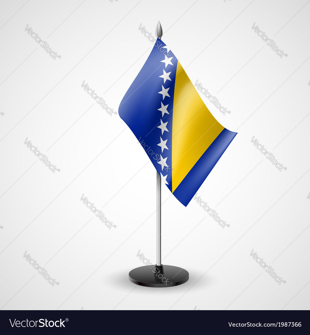 Table flag of bosnia and herzegovina vector | Price: 1 Credit (USD $1)