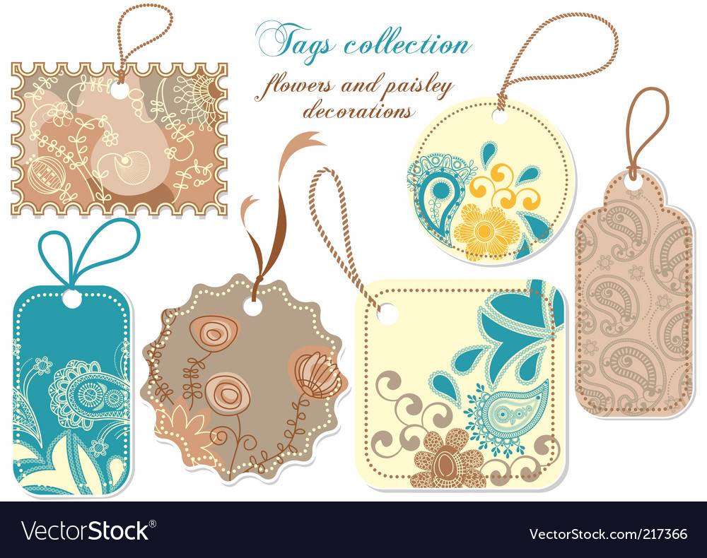 Tags collection vector | Price: 1 Credit (USD $1)