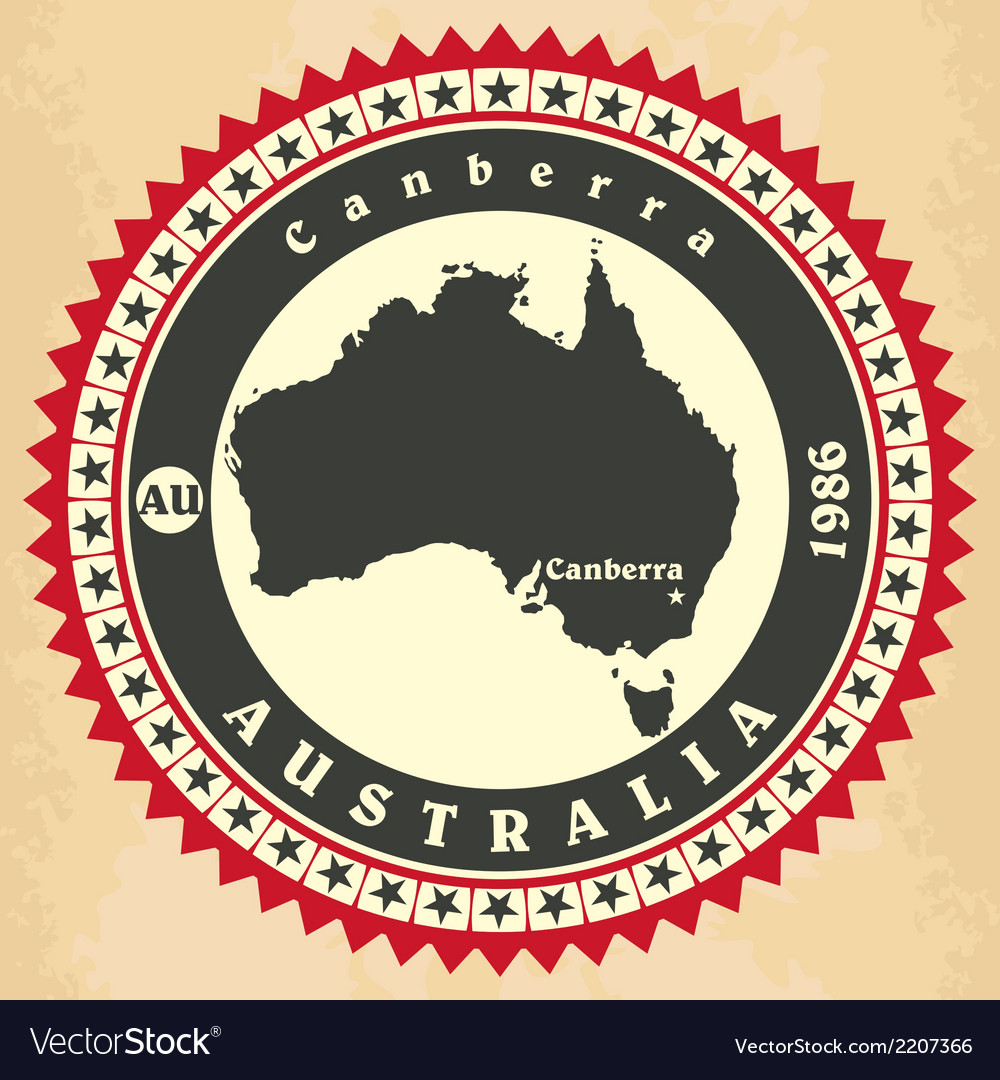Vintage label-sticker cards of australia vector | Price: 1 Credit (USD $1)