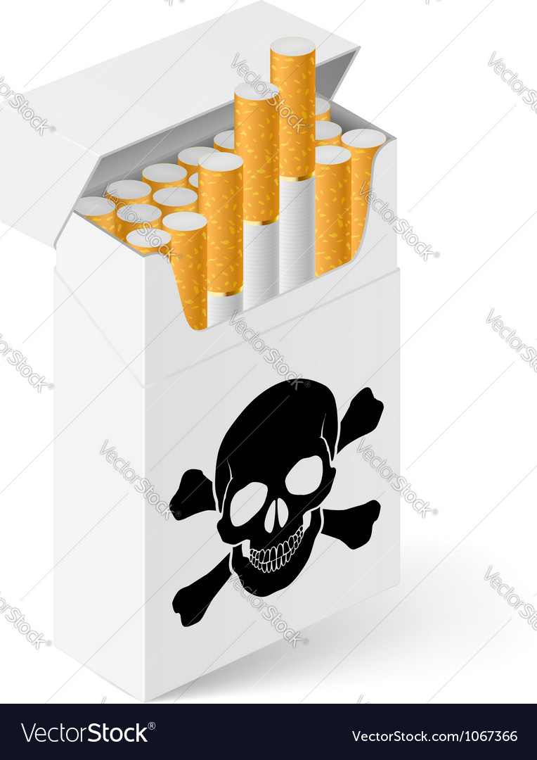 White pack cigarettes with vector | Price: 1 Credit (USD $1)