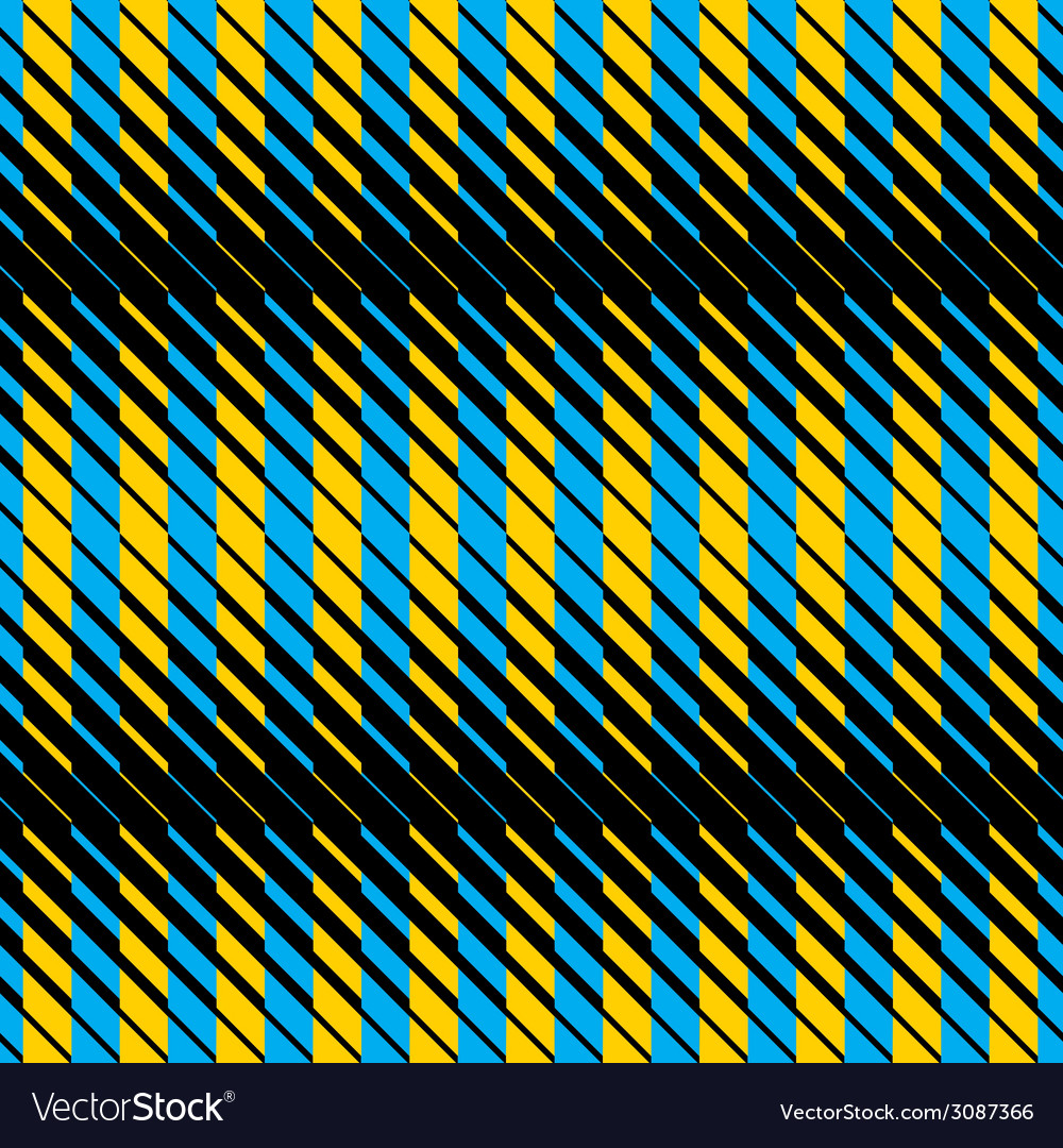 Yellow and blue lines seamless pattern vector | Price: 1 Credit (USD $1)