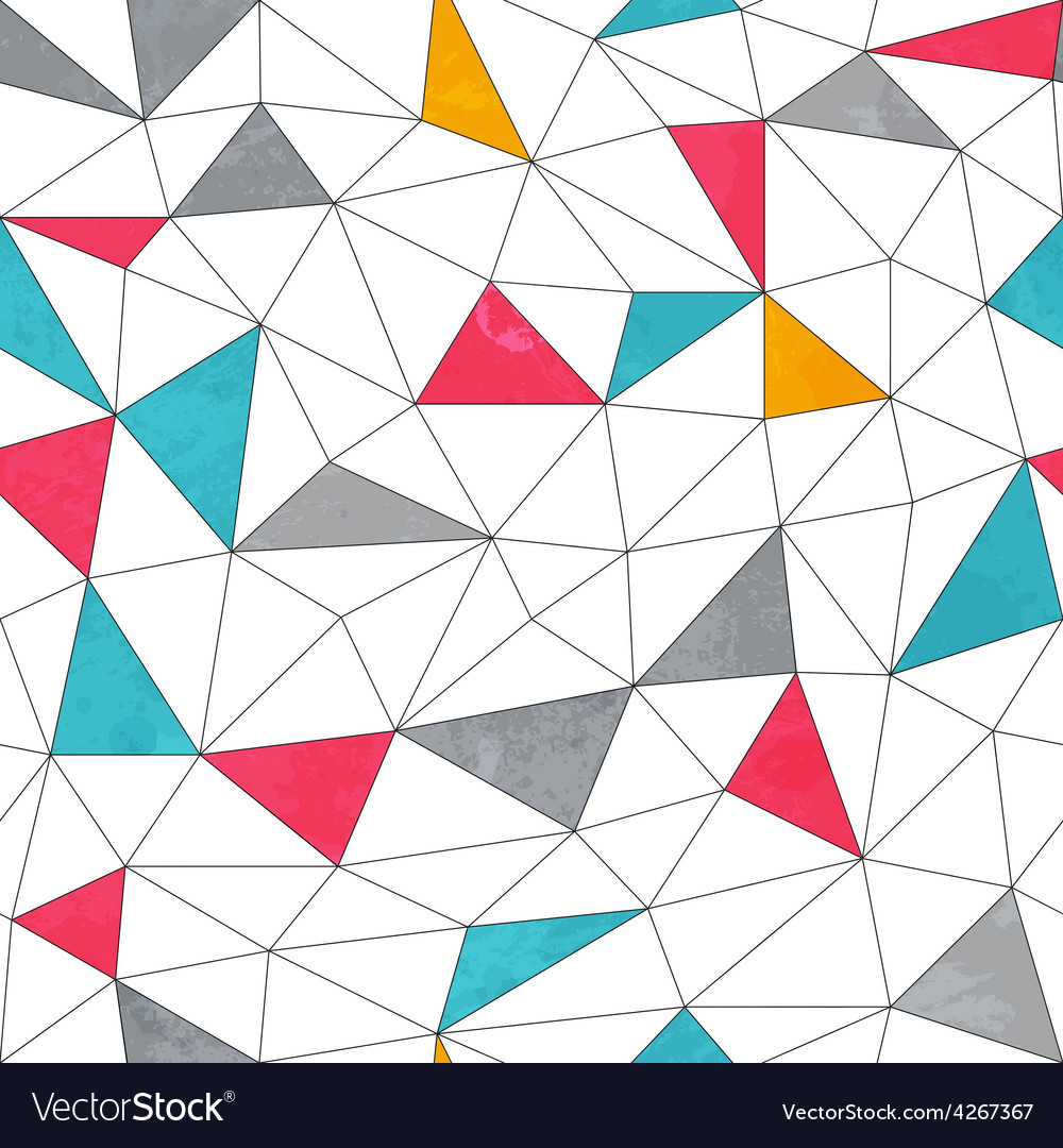 Abstract color triangle seamless pattern with vector | Price: 1 Credit (USD $1)