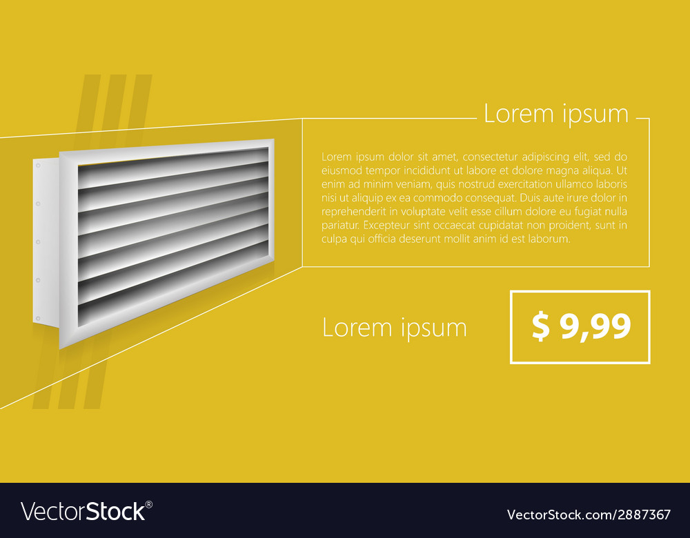 Ad layout for ventilation shutters vector | Price: 1 Credit (USD $1)