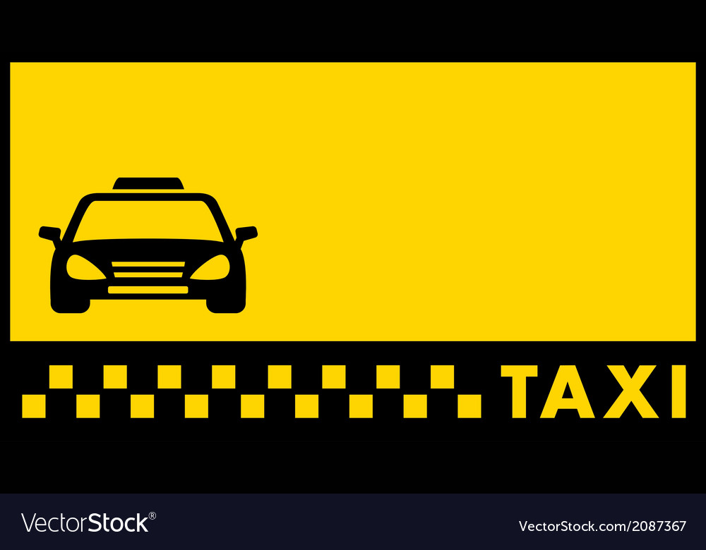Backdrop for taxi visiting card vector | Price: 1 Credit (USD $1)