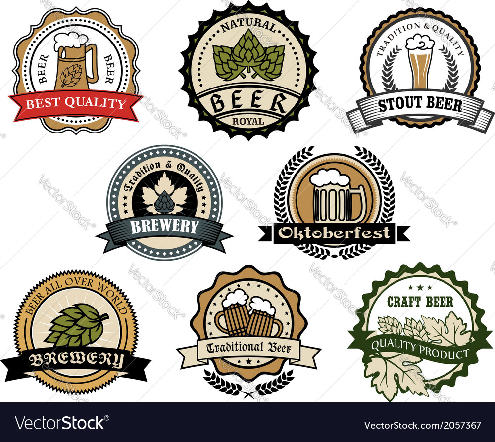 Brewery and beer labels vector | Price: 1 Credit (USD $1)