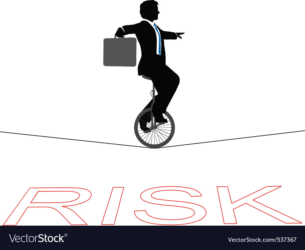 Business man rides a unicycle vector | Price: 1 Credit (USD $1)