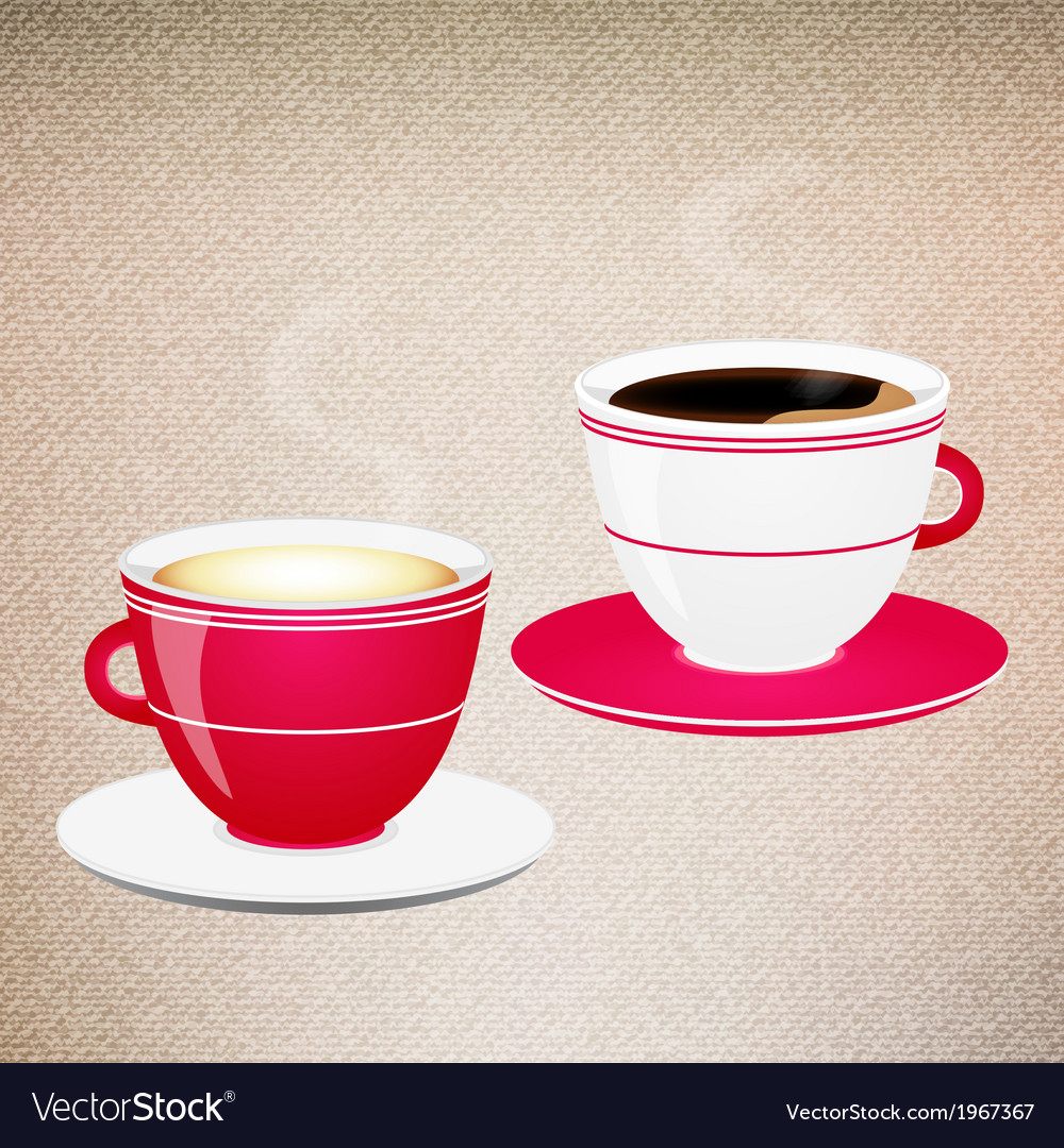 Coffee valentine cups vector | Price: 1 Credit (USD $1)