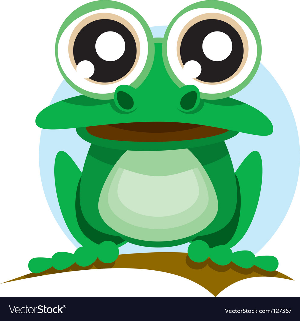 Frog with big eyes vector