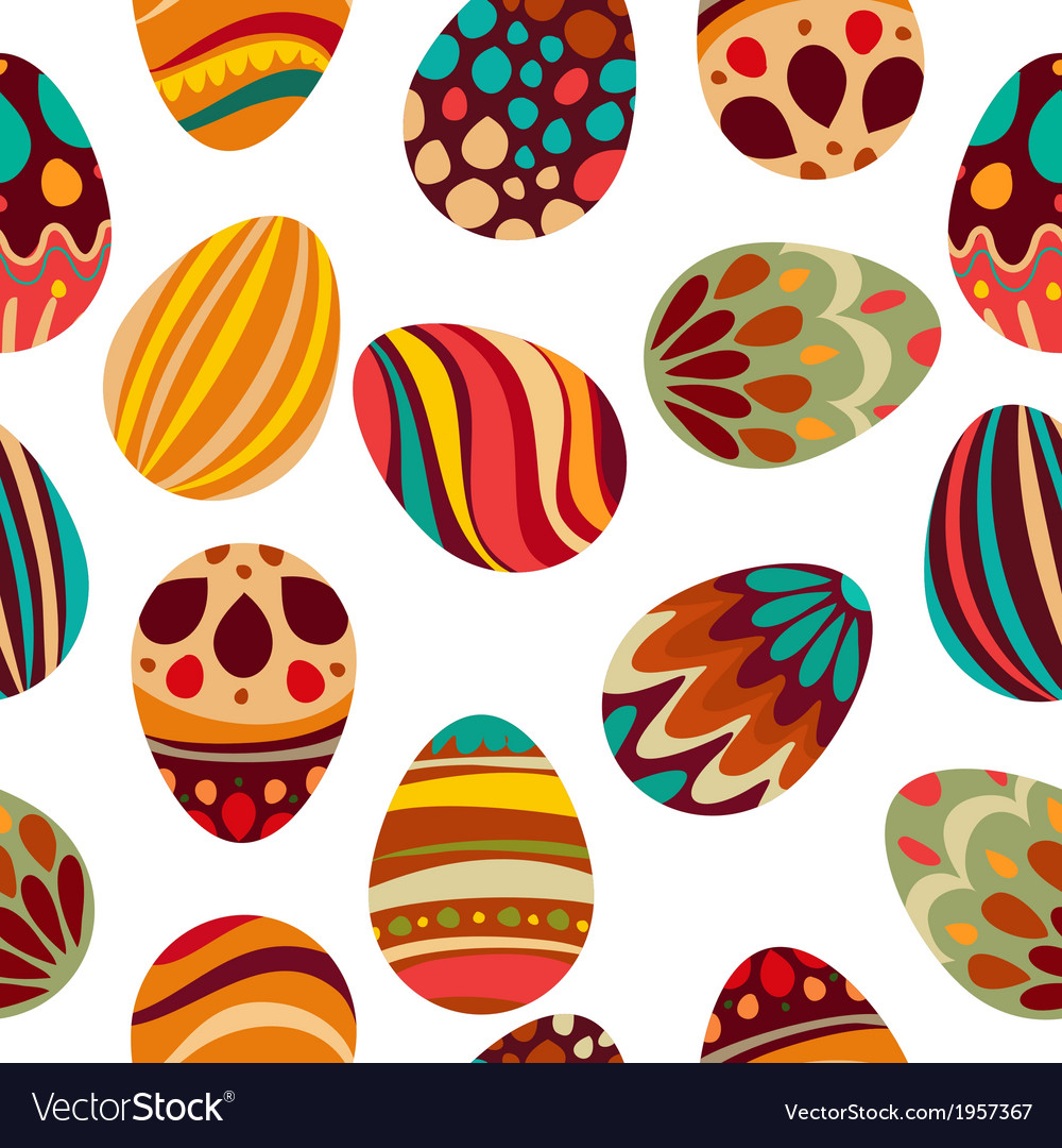Happy easter happy holiday eggs pattern vector | Price: 1 Credit (USD $1)