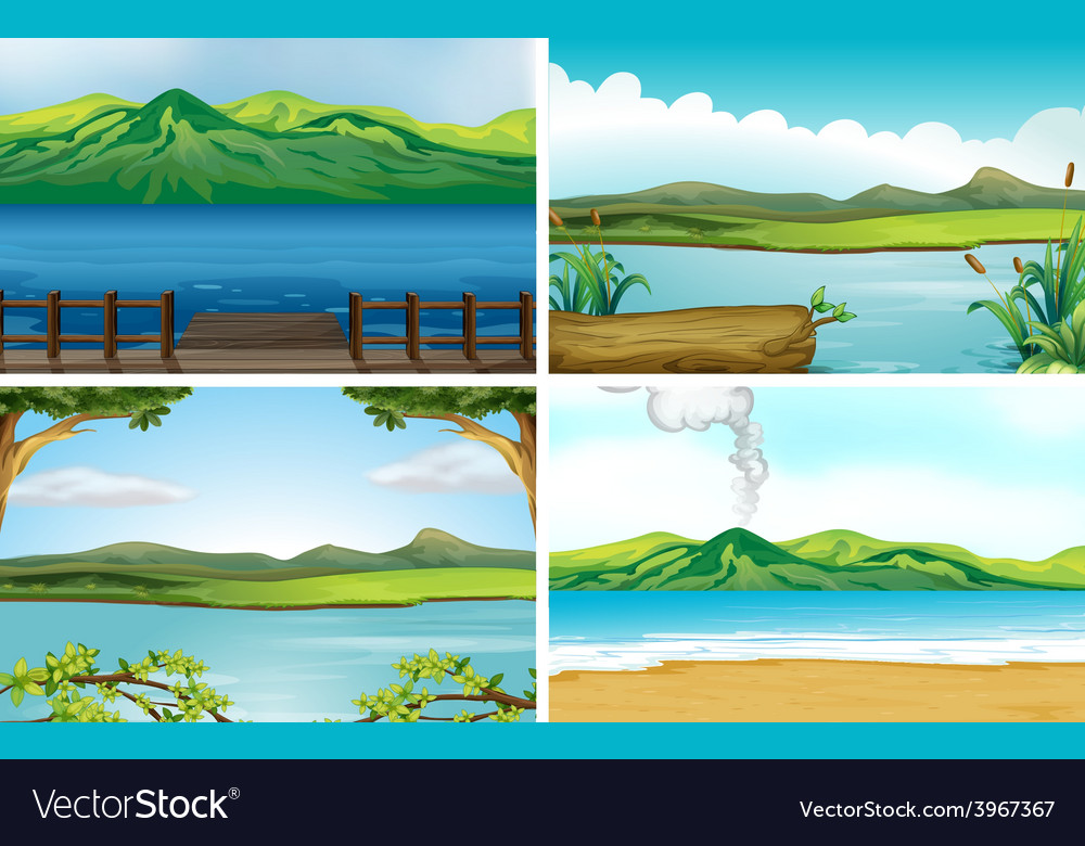 Lakes vector | Price: 3 Credit (USD $3)