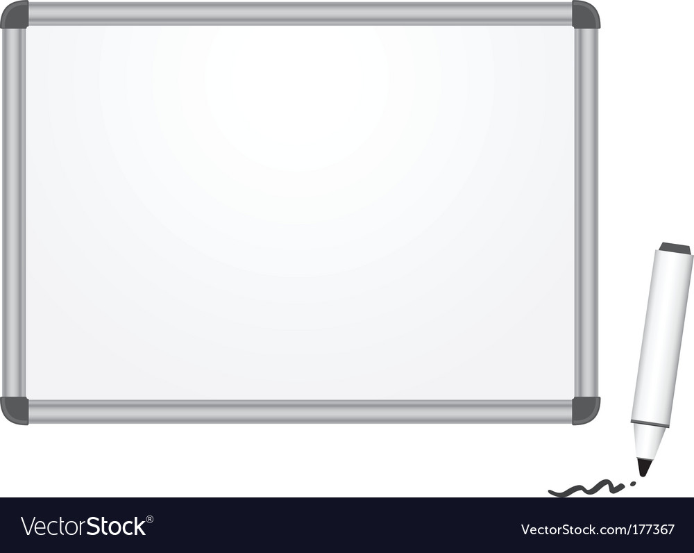Magnetic marker board vector | Price: 1 Credit (USD $1)