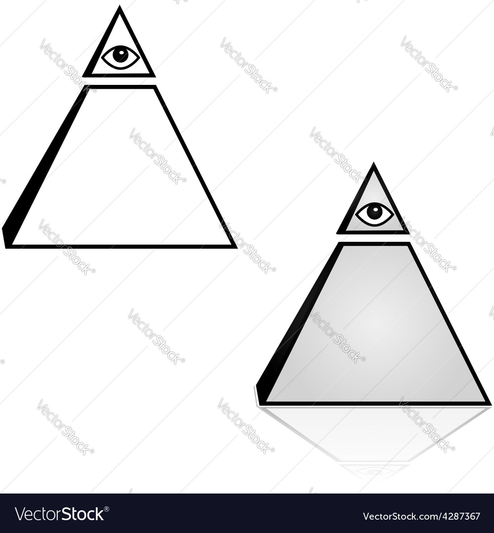 Pyramid with eye vector | Price: 1 Credit (USD $1)