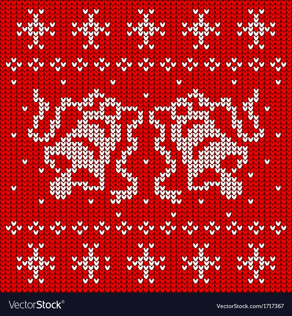 Red knitted sweater with two bells vector | Price: 1 Credit (USD $1)