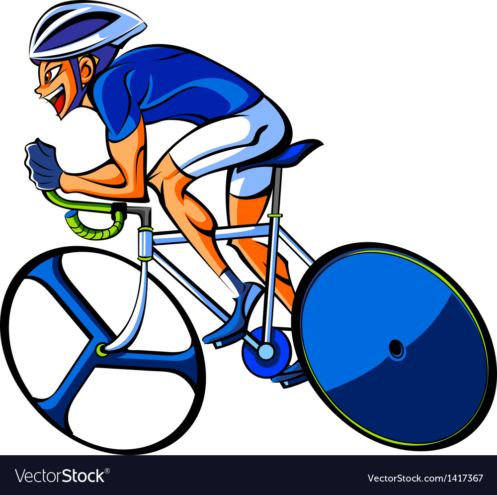 Side view of man riding bicycle vector | Price: 3 Credit (USD $3)