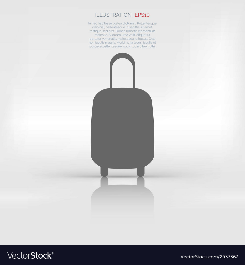 Traveling bag icon vector | Price: 1 Credit (USD $1)