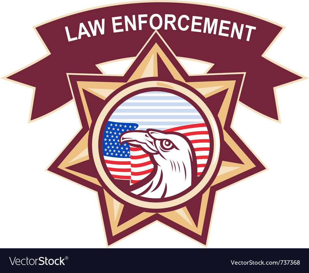 American law enforcement vector | Price: 1 Credit (USD $1)