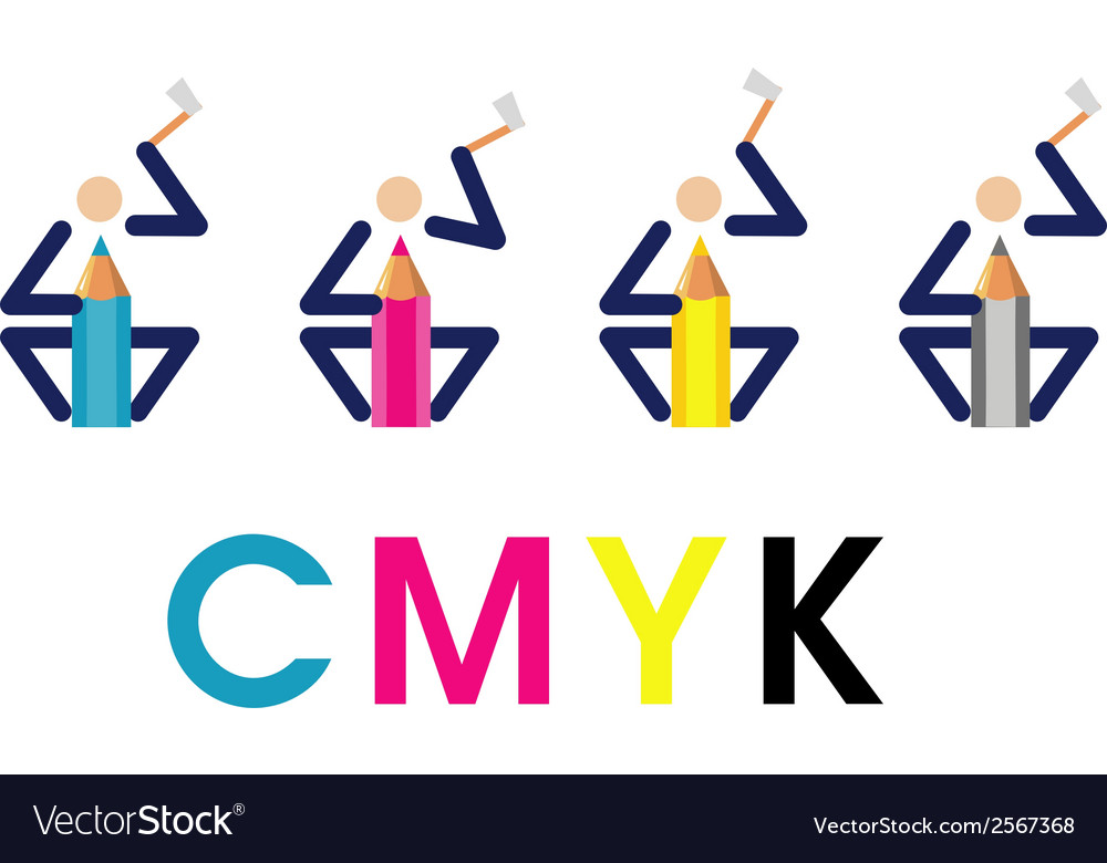 Cmyk woodcutters vector | Price: 1 Credit (USD $1)