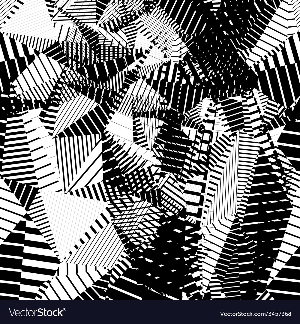 Contrast creative continuous lines pattern black vector | Price: 1 Credit (USD $1)