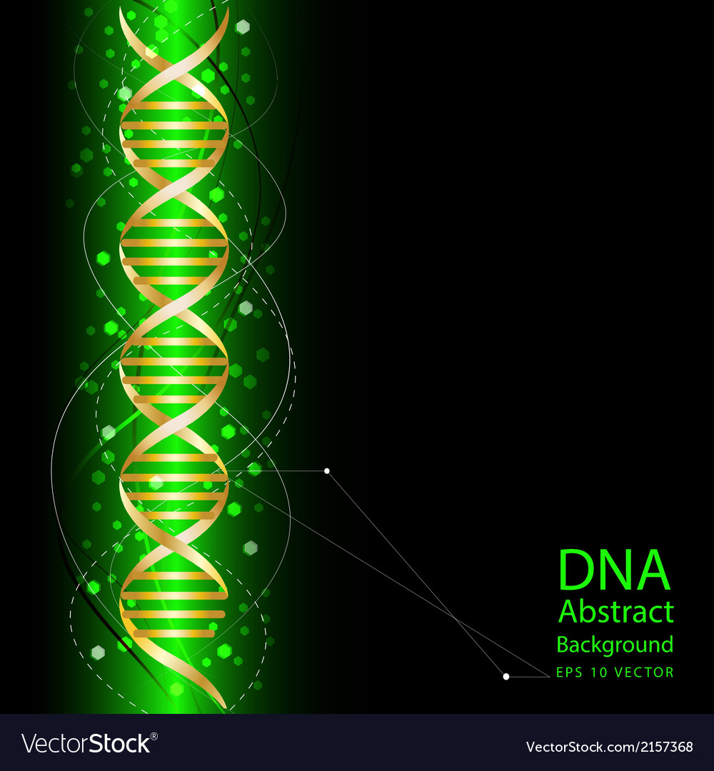 Dna abstract green colour background vector | Price: 1 Credit (USD $1)