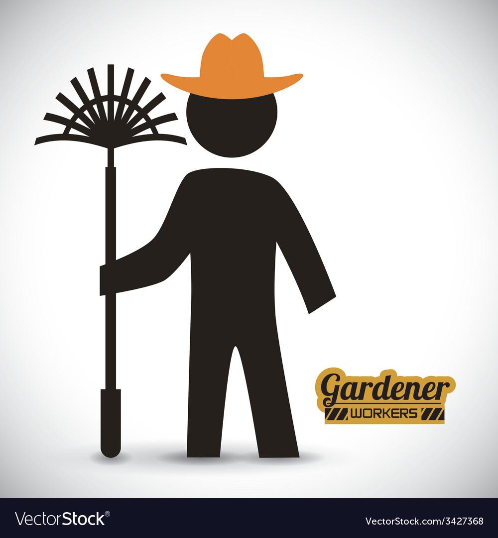 Gardener design vector | Price: 1 Credit (USD $1)
