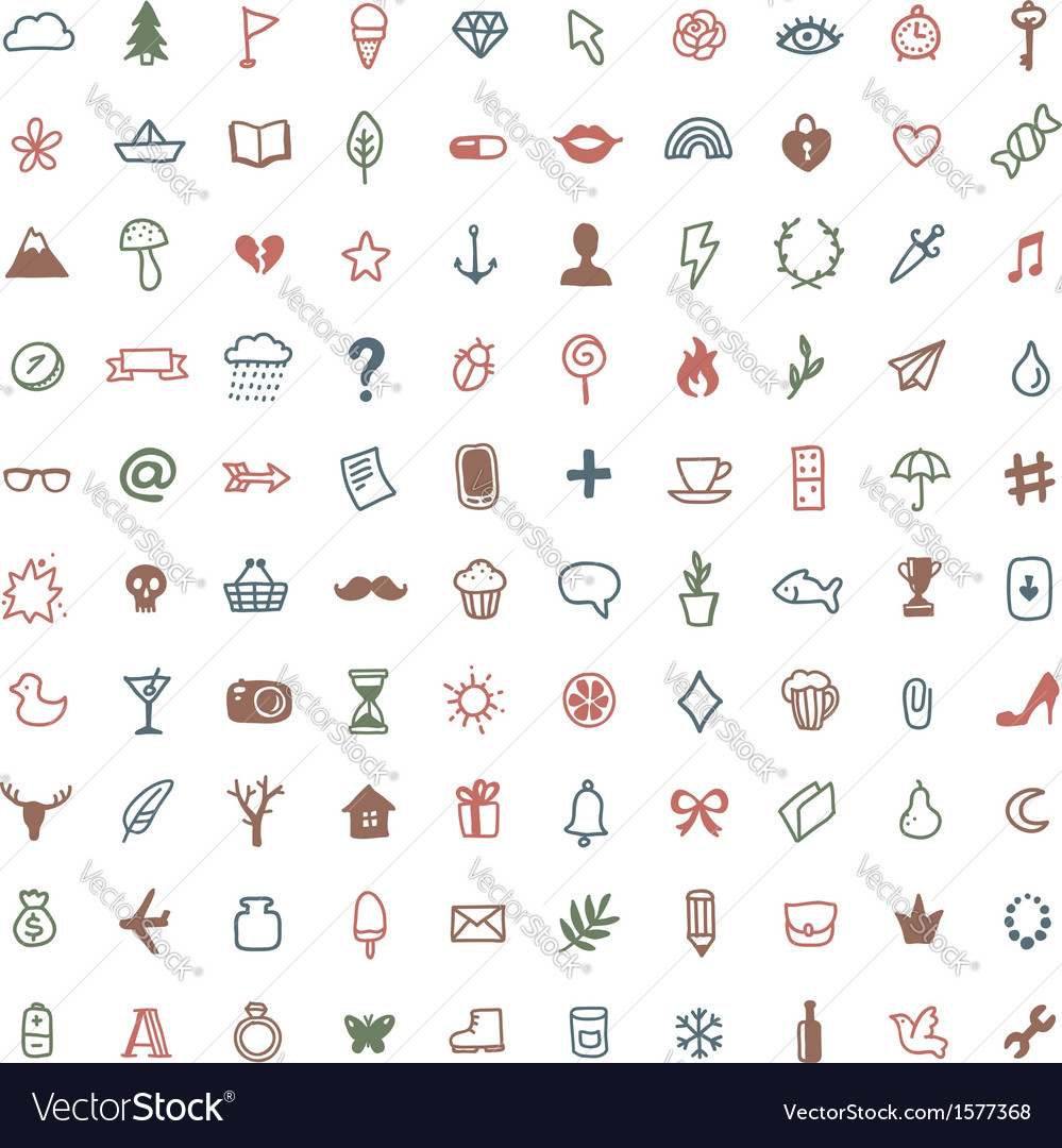 Hipster set icons vector | Price: 1 Credit (USD $1)