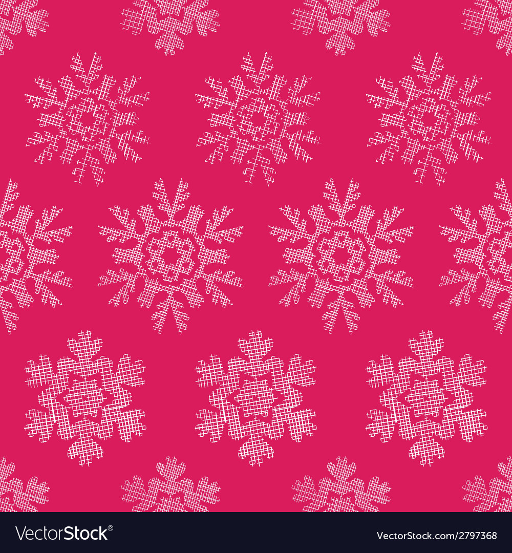 Red lace christmas snowflakes geometric textile vector | Price: 1 Credit (USD $1)