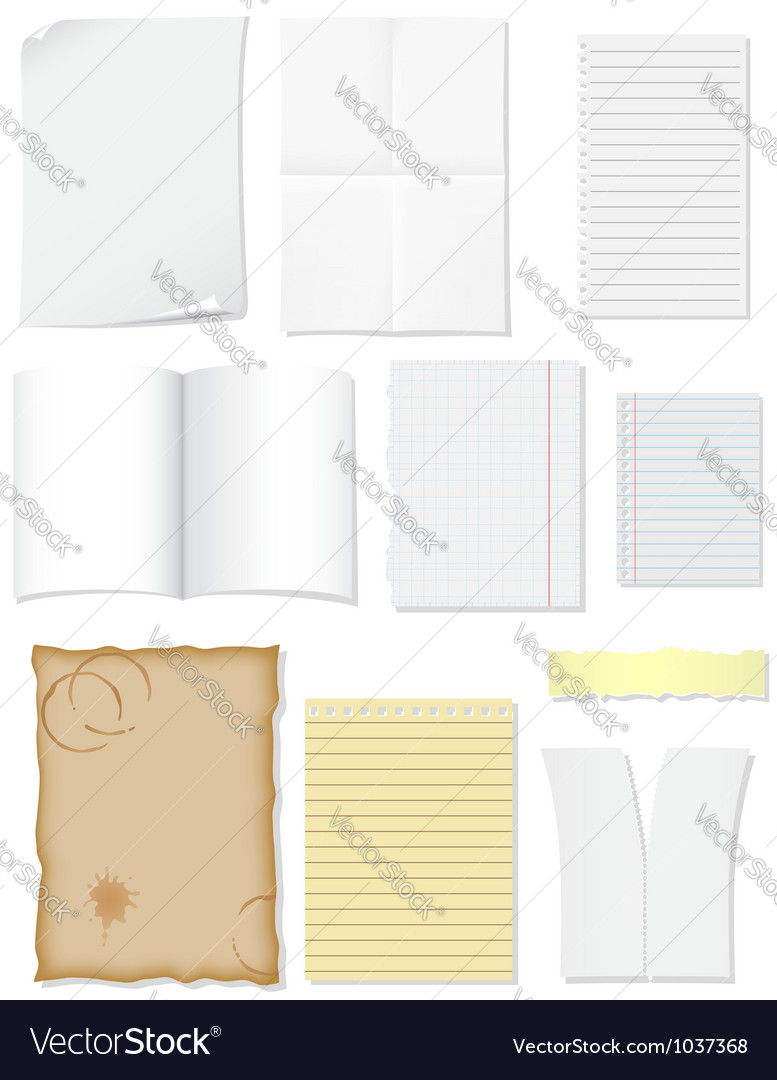 Set blank sheets of paper for design vector | Price: 1 Credit (USD $1)