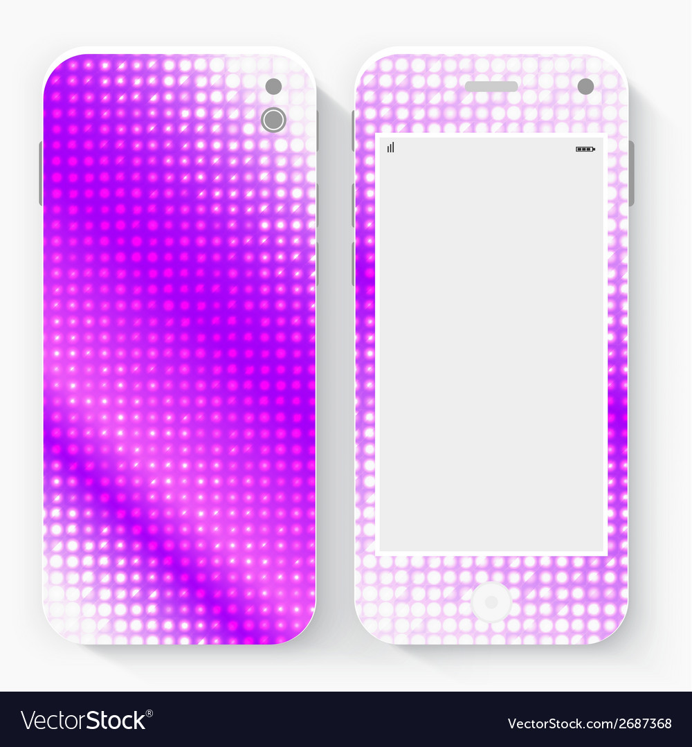Smart phone with isolated realistic white vector | Price: 1 Credit (USD $1)
