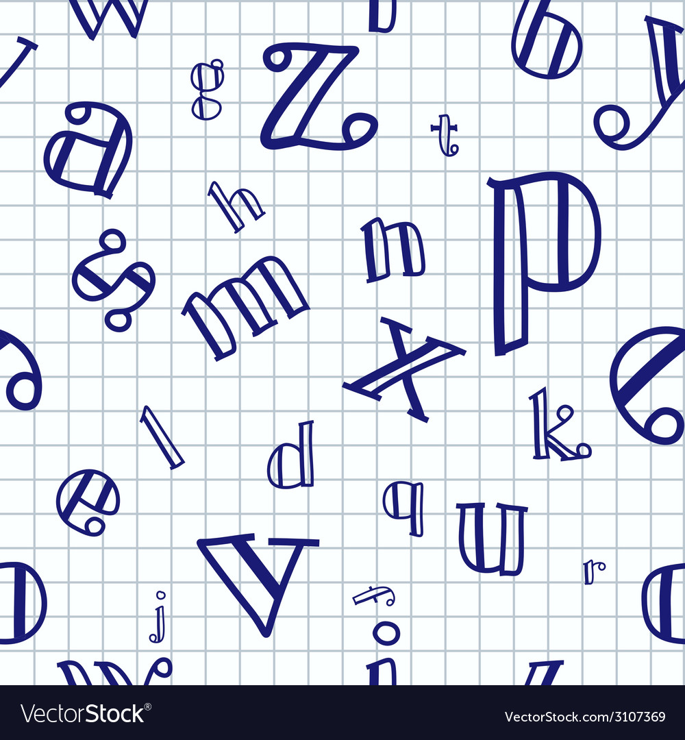 Alphabet seamless background vector   Price: 1 Credit (USD $1)