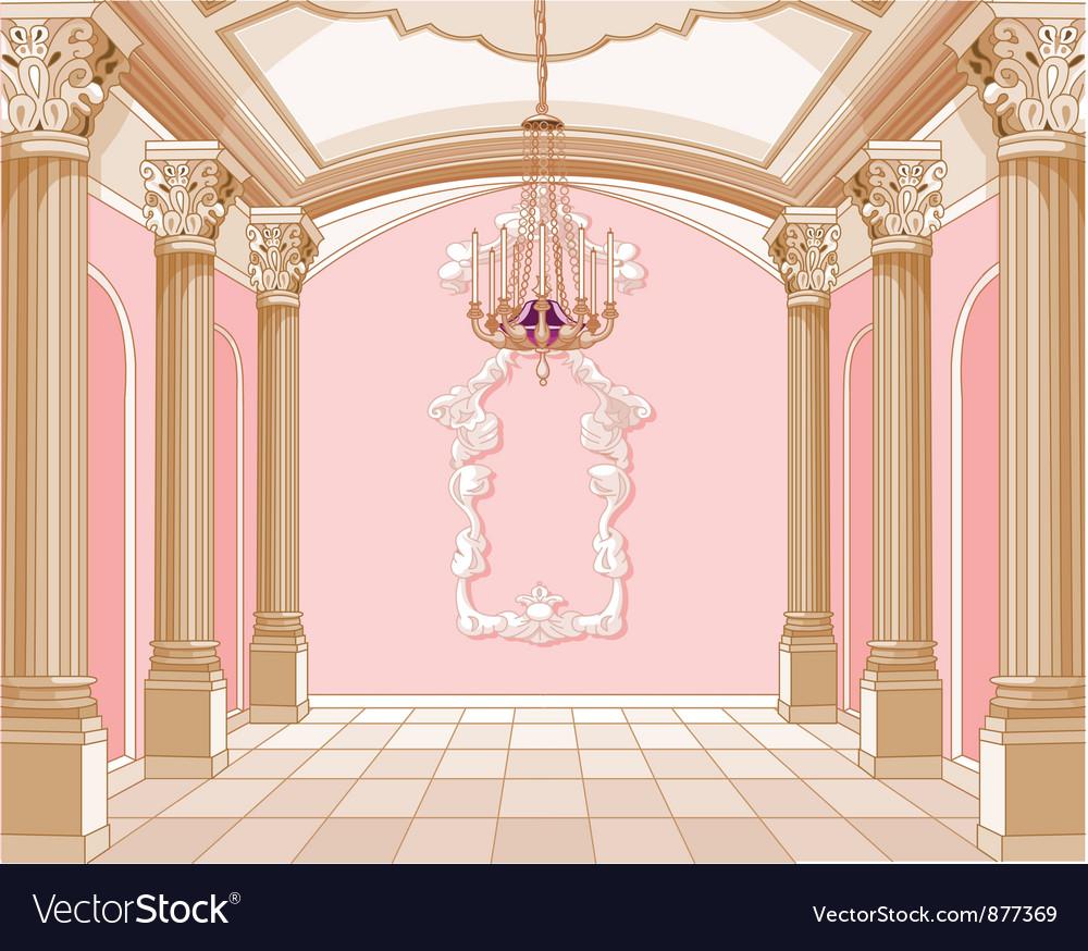 Ballroom of magic castle vector | Price: 3 Credit (USD $3)