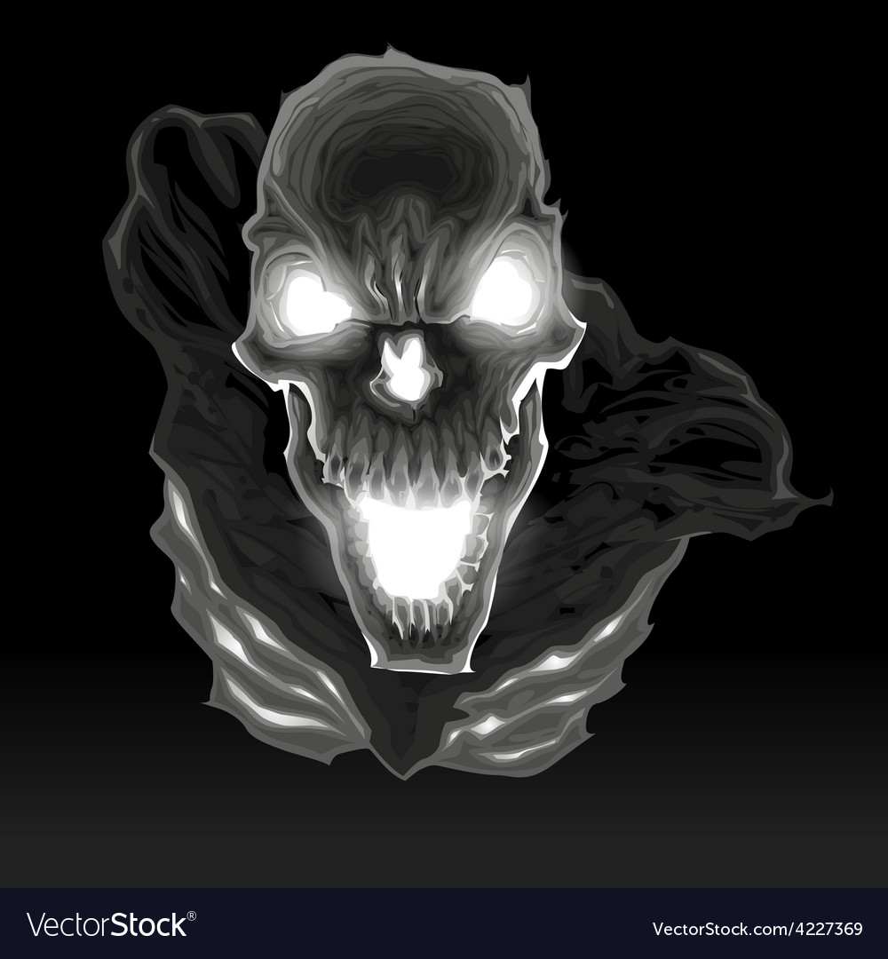 Black skeleton in the dark vector | Price: 3 Credit (USD $3)